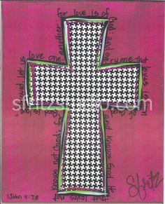 Houndstooth Cross