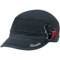 '47 Brand Houston Texans Ladies Avery Military Adjustable Hat - Navy Blue