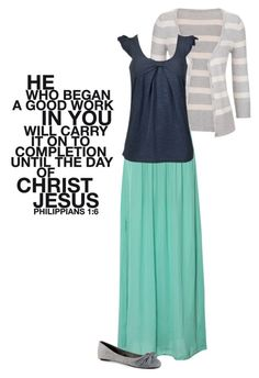 """Philippians 1:6"" by beautiful-and-unique ❤ liked on Polyvore featuring maurices, Pull&Bear and Aéropostale"
