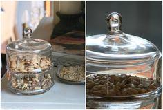 En este tarro de cristal… | Blaubloom www.blaubloom.com - de cristal y frutos secos Glass vase