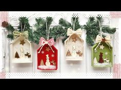 Note to myself: card box. All Things Christmas, White Christmas, Christmas Holidays, Felt Christmas Ornaments, Christmas Tree Decorations, Holiday Decor, Craft Stick Crafts, Christmas Crafts, Christmas Origami