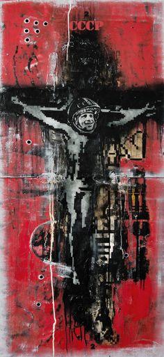 Apellátaráta, 2015 Mixed Media on Canvas, 180 x 78 cm