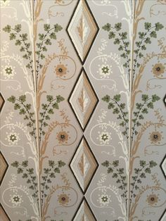 Wall covering in the Wentworth Mansion in Charleston, SC