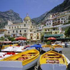 Boats and Waterfront, Positano, Costiera Amalfitana (Amalfi Coast), Campania, Italy Photographic Print by Roy Rainford at Art.com