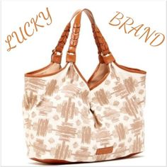 """‼️MAKE ME AN OFFER‼️AUTHENTIC LUCKY BRAND TOTE ‼️ALL COLORS SOLD OUT‼️This bag is HUGE & the fabric has been individually hand finished to have a vintage crinkled worn appearance. Shading & streaking are intentional & add to the unique character of the bag. It's a must have & definitely one of a kind. The color is BLACK & NATURAL, 1st 2 pics for example only, 2nd 2 pics are the bag. 21"""" across & from the highest point of the bag 12"""" in height & lowest point is 10.5"""". Drop is almost 10""""…"""