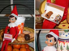 Elf on the Shelf With Donut - 25 Elf On The Shelf Ideas from LivingLocurto.com