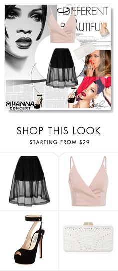 """Rihanna concert"" by maidaa12 ❤ liked on Polyvore featuring MAC Cosmetics, Simone Rocha, Prada and BCBGMAXAZRIA"