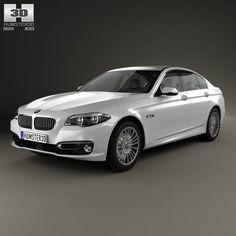 BMW 5 Series (F10) sedan 2014 3d model from humster3d.com. Price: $75