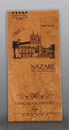 Nazaré | Igreja da N. Sra. da Nazaré  | Chocolate Negro 48% Cacau 125 g History Of Chocolate, Vintage World Maps, Cocoa, Feelings, Black