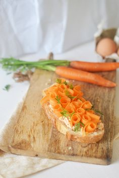 Carrot Flower Tartine (picture only)