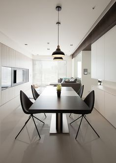 Dinner Room, Dinner Table, Kitchen Interior, Kitchen Dining, Furniture Design, Minimalist, Living Room, Dining Tables, Rotterdam