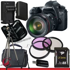 Canon EOS 6D Digital Camera with Canon 24-105mm f/4.0L IS USM AF Lens 8GB Package 4 by Sony. $2704.84. Package Contents:  1- Canon EOS 6D Digital Camera with Canon 24-105mm f/4.0L IS USM AF Lens with all supplied accessories 1- 8GB SDHC Class 10 Memory Card 1- Rapid External Ac/Dc Charger Kit   1- USB Memory Card Reader  1- Rechargeable Lithium Ion Replacement Battery  1- Weather Resistant Carrying Case w/Strap  1- Pack of LCD Screen Protectors  1- Camera & Lens Cleani...