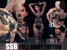 The Sims 4 CC Tattoo Set for Males & Females
