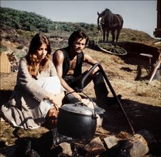 Franco Nero and Joanna Shimkus in The Virgin and the Gypsy 1970 From the story by D.H. Lawrence.