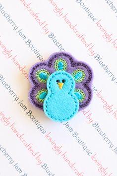 Embroidered Felt Peacocks