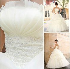 Wholesale - 2013 Newest Design Fashion three or five layer high-end Bride Princess Wedding Dress Sweet Wedding Dresses, Wedding Dresses 2014, Wedding Dresses With Straps, Formal Dresses For Weddings, Cheap Wedding Dress, Wedding Dress Styles, Wedding Gowns, Dress Formal, Up Dos