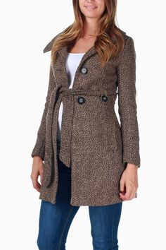 Pink Blush Maternity - Brown Maternity Coat They have the cutest maternity clothes and affordable! Pregnancy Fashion Winter, Winter Maternity Outfits, Maternity Coat, Summer Maternity Fashion, Stylish Maternity, Maternity Dresses, Maternity Styles, Pregnant Outfit, Pretty Pregnant