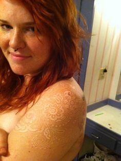 white ink paisley sleeve
