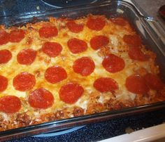 Weight Watcher Recipes  Pizza Pasta Casserole