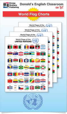 Tack these World Flag Charts to a classroom board or directly in students' notebooks for a reference they'll return to again and again!  #ESL #EFL #ELL