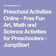 Preschool Activities Online - Free Fun Art, Math and Science Activities for Preschoolers - JumpStart