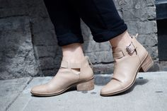 Geox new twinka nude ankle boots cute outfit idea summer fall Vancouver fashion blogger Aritzia