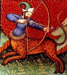 Sagittarius is symbolized as a centaur, half man and half horse, wielding a bow. A planet's domicile is the zodiac sign over which it has rulership. The planet said to be ruler of Sagittarius is Jupiter. Sagittarius is one of the three fire signs.