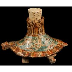 Turtle Ceramic Vessel Museum Quality Handmade Mayan Reproduction