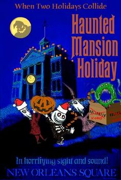 Haunted Mansion - The Nightmare Before Christmas poster
