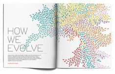 """wired magazine """"we evolve"""" Poster Design Layout, Graphic Design Print, Print Layout, Graphic Design Illustration, Graphic Design Inspiration, Design Illustrations, Layout Inspiration, Brochure Design, Illustrations Posters"""