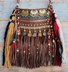 Handmade, with vegan leather, this boho fringe bag is the ultimate statement handbag through all sea… Hippie Bags, Boho Bags, Chic Winter Outfits, Boho Outfits, Gypsy Style Outfits, Hippy Chic, Boho Chic, Boho Style, Witch Fashion