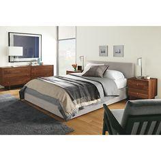 Wyatt Upholstered Storage Bed - Wyatt Bed with Storage Drawer - Beds - Bedroom - Room & Board