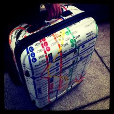 New suitcase - Trolley Subway print, bought from Morris (Norway)