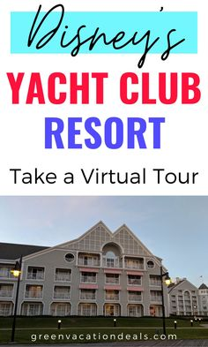 Disney's Yacht Club Resort is a great place to stay in Orlando Florida. It's a deluxe resort onsite at Walt Disney World. See for yourself what a fabulous hotel it is by taking a virtual tour! Check out its excellent location near the Boardwalk, look around the lovely lobby & more. This is a great way to enjoy Disney from home - or start planning your next Disney World vacation! Where to stay on a family vacation in Orlando FL. #disneysyachtclubresort #waltdisneyworld #disneyresorts #travel Disney Hotels, Walt Disney World Vacations, Orlando Resorts, Orlando Florida, Vacation Deals, Dream Vacations, Disney World With Toddlers, Disney World Planning, Disney World Tips And Tricks