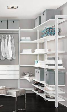 regalsystem f r ankleidezimmer ideal f r den begehbaren kleiderschrank regalsysteme. Black Bedroom Furniture Sets. Home Design Ideas