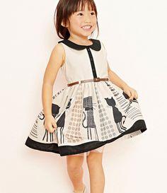 Goedkope , koop rechtstreeks van Chinese leveranciers: 2014 nieuwe aankomst zomer meisjes jurken met kat ontwerp, merk jurk met riem voor meisjes kinderen dragen kinderen 2 ~ 7 keer=multiple available= merke