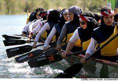 Tehran Debates Breaking Dress Code To Broadcast Women At Olympics Hijab Niqab, Muslim Hijab, Turban, Sports Hijab, Muslim Images, Rowing Team, Islam Women, Iranian Women, Who Runs The World