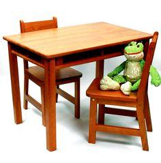 Lipper International Rectangular Table & 2-Chair Set
