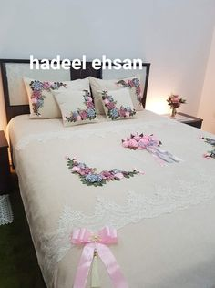 Draps Design, Ribon Embroidery, Designer Bed Sheets, Tie Dye Bedding, Kurti Designs Party Wear, Dress Sewing Patterns, Traditional Wedding, Bed Spreads, Bed Pillows
