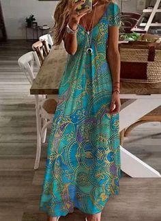 Elegant Summer Dresses, Casual Dresses, Paisley, Floryday Vestidos, Floral Vintage, Holiday Dresses, Women's Fashion Dresses, Dresses For Sale, Dresses Online
