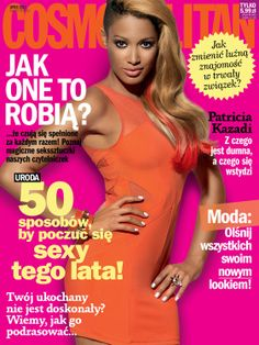 COSMOPOLITAN edycja polska / Patricia Kazadi / lipiec 2012    www.cosmopolitan.pl