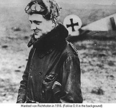 Manfred Von Richtofen - The Red Baron   Manfred Albrecht Freiherr von Richthofen (2 May 1892 – 21 April 1918), also widely known as the Red Baron, was a German fighter pilot with the Imperial German Army Air Service (Luftstreitkräfte) during World War I. He is considered the ace-of-aces of that war, being officially credited with 80 air combat victories, more than any other pilot.