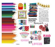 """""""Dream Locker#2"""" by frootloopclouds on Polyvore featuring art, BackToSchool and lockerdecor"""
