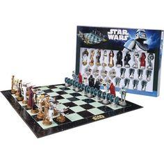 "Star Wars Chess Set / Chess Game Board with Star Wars Figurines Chess Pieces (Game Board Size 17"" x 17"") by Star Wars, http://www.amazon.com/gp/product/B002BIRM2S/ref=cm_sw_r_pi_alp_SMv3pb0734DAP"