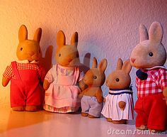Rabbit toy family by I-bag, via Dreamstime