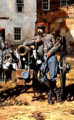 1862 - Washington Artillery of New Orleans - Army of Northern Virginia Companies - Don Troiani.