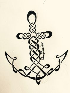 Celtic anchor tattoo- artist:Calie Gaarder