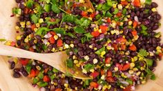 Valerie Bertinelli packs this salad with smoky cumin and a little heat    Southwest Corn and Bean Salad Salsa