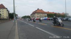 Mitte , Motorraddemonstration