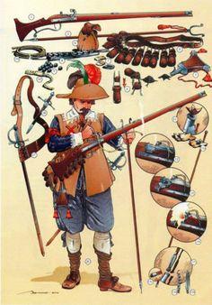 English Civil War Infantry arms and equipment Renaissance, Military Art, Military History, Thirty Years' War, Armadura Medieval, Landsknecht, Age Of Empires, Modern Warfare, War Machine
